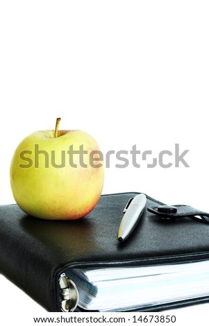 Back to school on white background with copy space