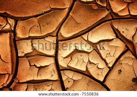 Background abstract: dry soil in summer