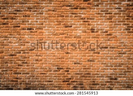 background and texture decorative red brick wall surface