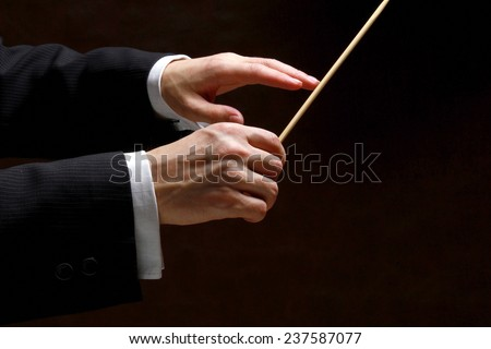 background, baton, black, classical, closeup, composer, concert, conductor, director, hands, holds, horizontal, human, isolated, leader, leadership, louder, male, man, music, musician, opera,