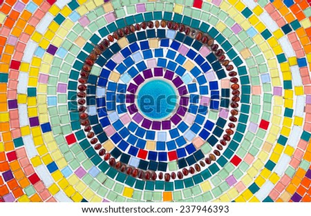 Background, ceramic multicolor tile.