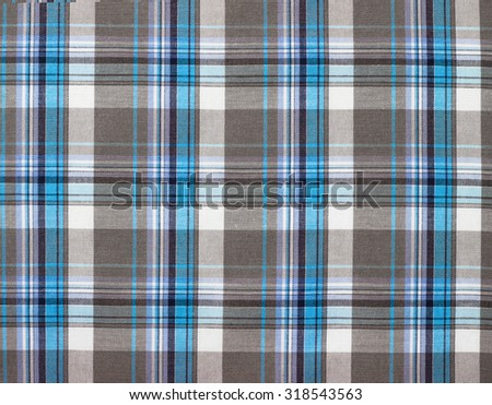 background checkered cloth fabric  Black White blue