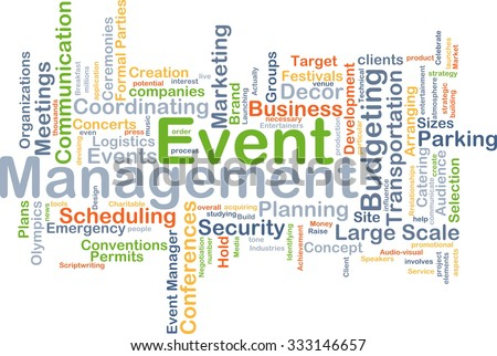 Background concept wordcloud illustration of event management