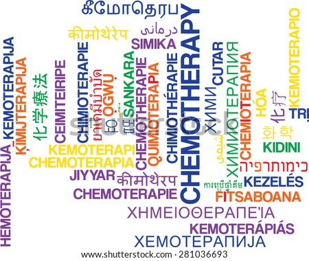 Background concept wordcloud multilanguage international many language illustration of chemotherapy