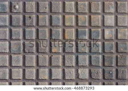 Background - detail of steel manhole cover