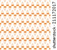 Background for vegetarian food. Carrot. Seamless pattern with orange monochrome hand-drawn carrots on white background. - stock vector