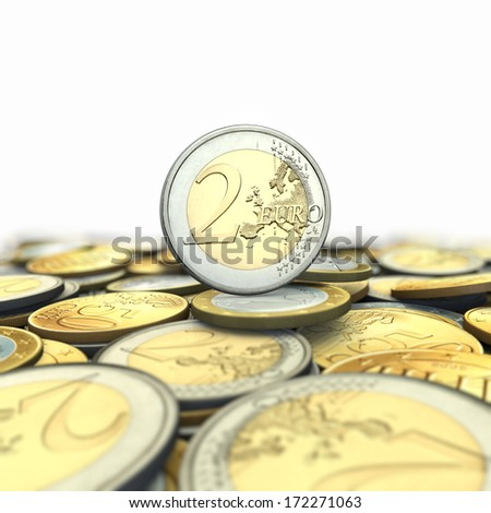 Background from euro coins