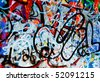 background image of a urban grafitti wall - stock
