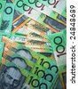 Background of Australian 100 dollar notes - stock