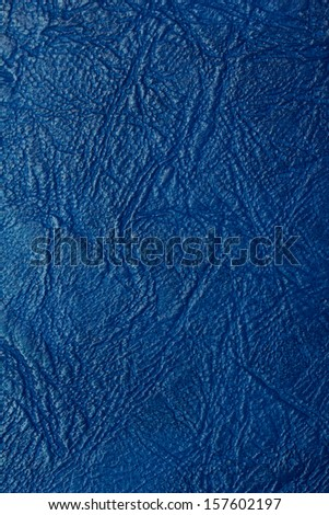 background of blue leather