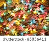 Background of colorful Christmas lights. Decorative garland - stock photo