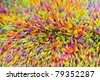 background of colorful drinking plastic straws - stock photo