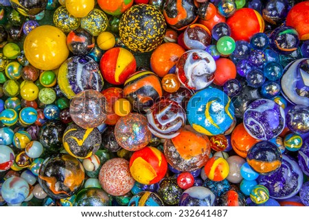Background of colorful glass marbles as a concept for diversity