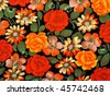 Background of colorful vintage textile surface - stock photo