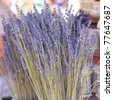 background of dried lavender flowers at the fair - stock photo