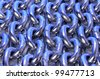 background of metal chains - stock photo
