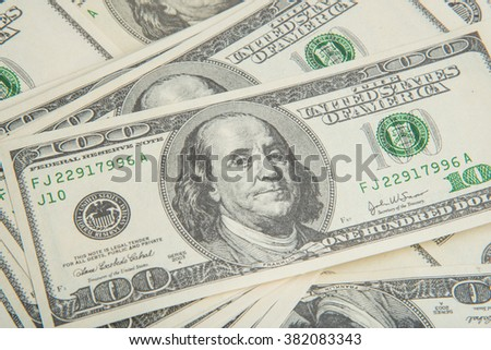 Background of money american hundred dollar bills