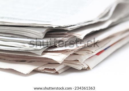 background of newspapers closeup
