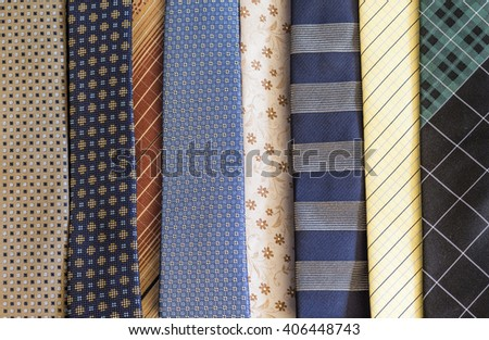 Background of numerous men's ties