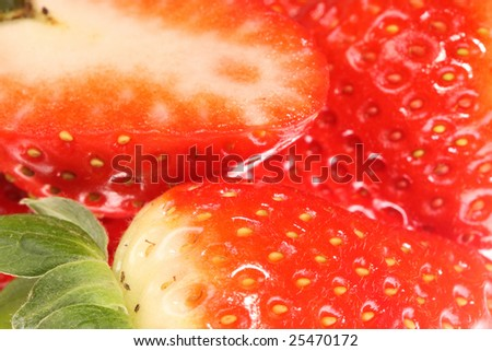Background of ripe, bright strawberries.