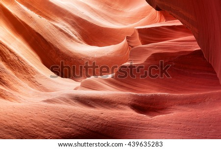 background of sculpted stone in Antelope slot Canyon