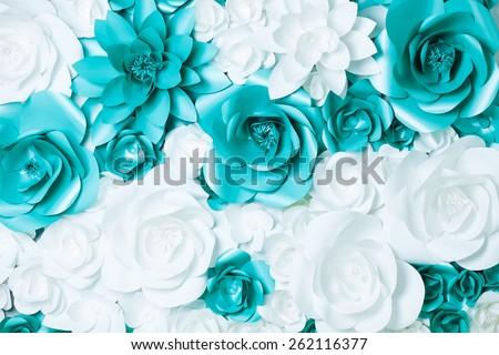 Turquoise Flower Wallpaper