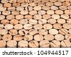 Background pattern of wine bottles corks.Shallow DOF - stock photo