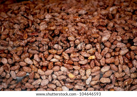 Background, sugared roasted almonds