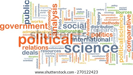 Background text pattern concept wordcloud illustration of political science