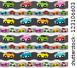 Background with cars. Raster version - stock photo