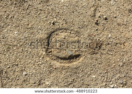 Background with horseshoe mark on the floor