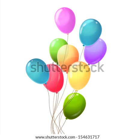 Background with multicolored balloons.