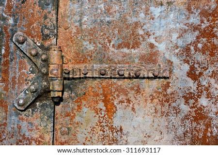 Rusty Metal Door backgrounds textures rusty metal door surface stock photo