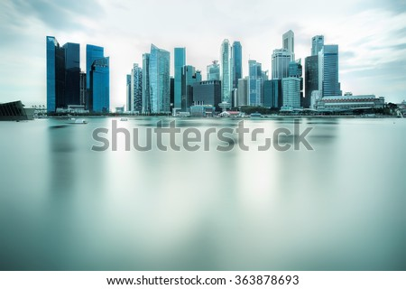 Backlit city skyline