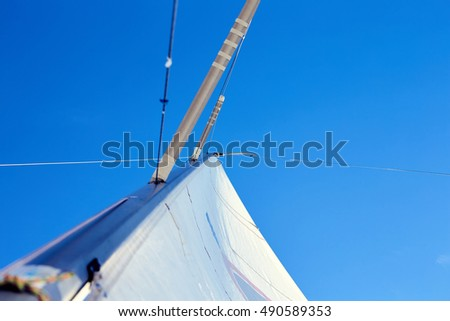 backstay free, permanent backstay is attached to the top of the mast.