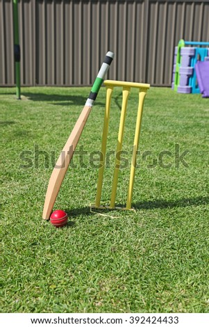 Backyard cricket equipment - An Australian pastime