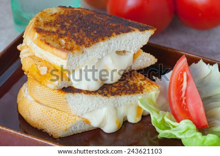 Bacon Flavoured Grilled Cheese Sour Dough Sandwich