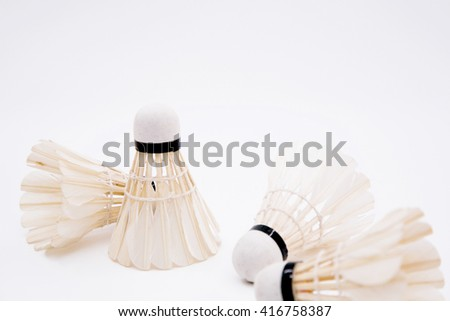 Badminton isolated on white