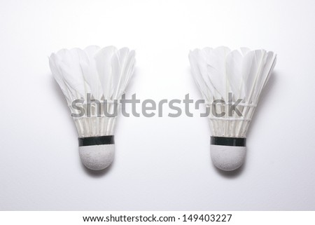 Badminton with white background.