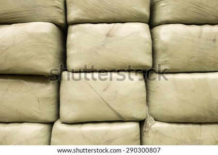 Brown Micro Suede Rocker Recliner Chair Stock Photo