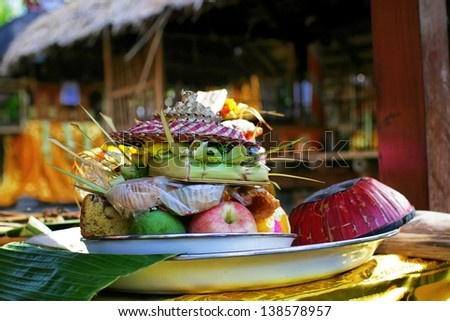 Bali. Holiday.Special food.