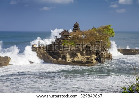 Bali indonesia Temple Tanah Lot at daytime