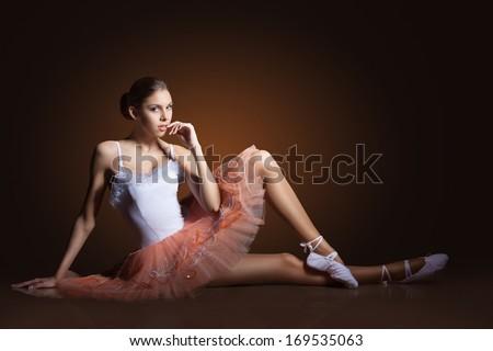 Ballerina Floor Posing Stock Photos, Ballerina Floor ...