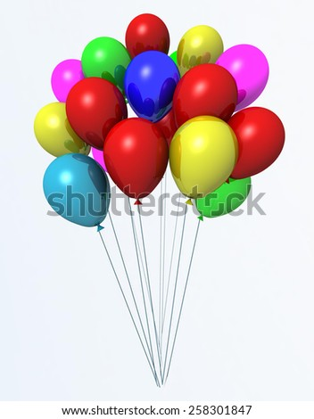 balloon bunch isolated - children party - happy birthday