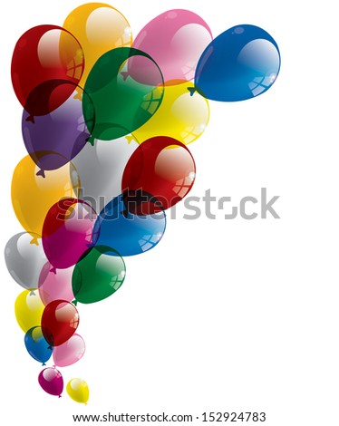 Balloons background. Happy birthday. Stampa