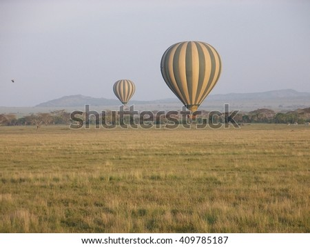 Balloons Over Serengeti National Park, Tanzania