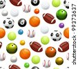 Balls seamless pattern, bitmap copy - stock