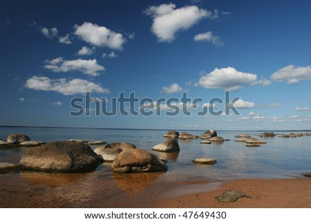 Baltic sea coast near the Riga (Latvia)