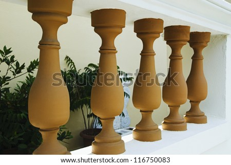 Balustrade of a house, Athens, Greece