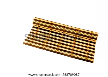 Bamboo cooking mat isolated background